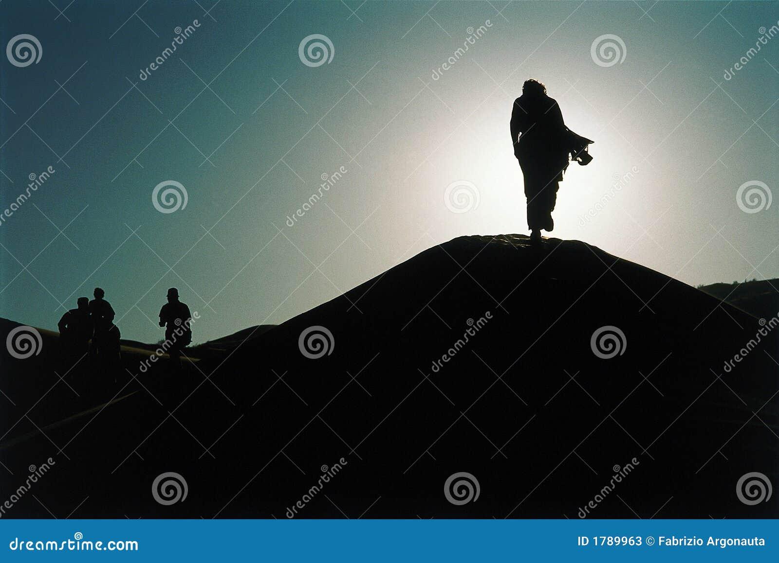 Silhouetten in de Woestijn