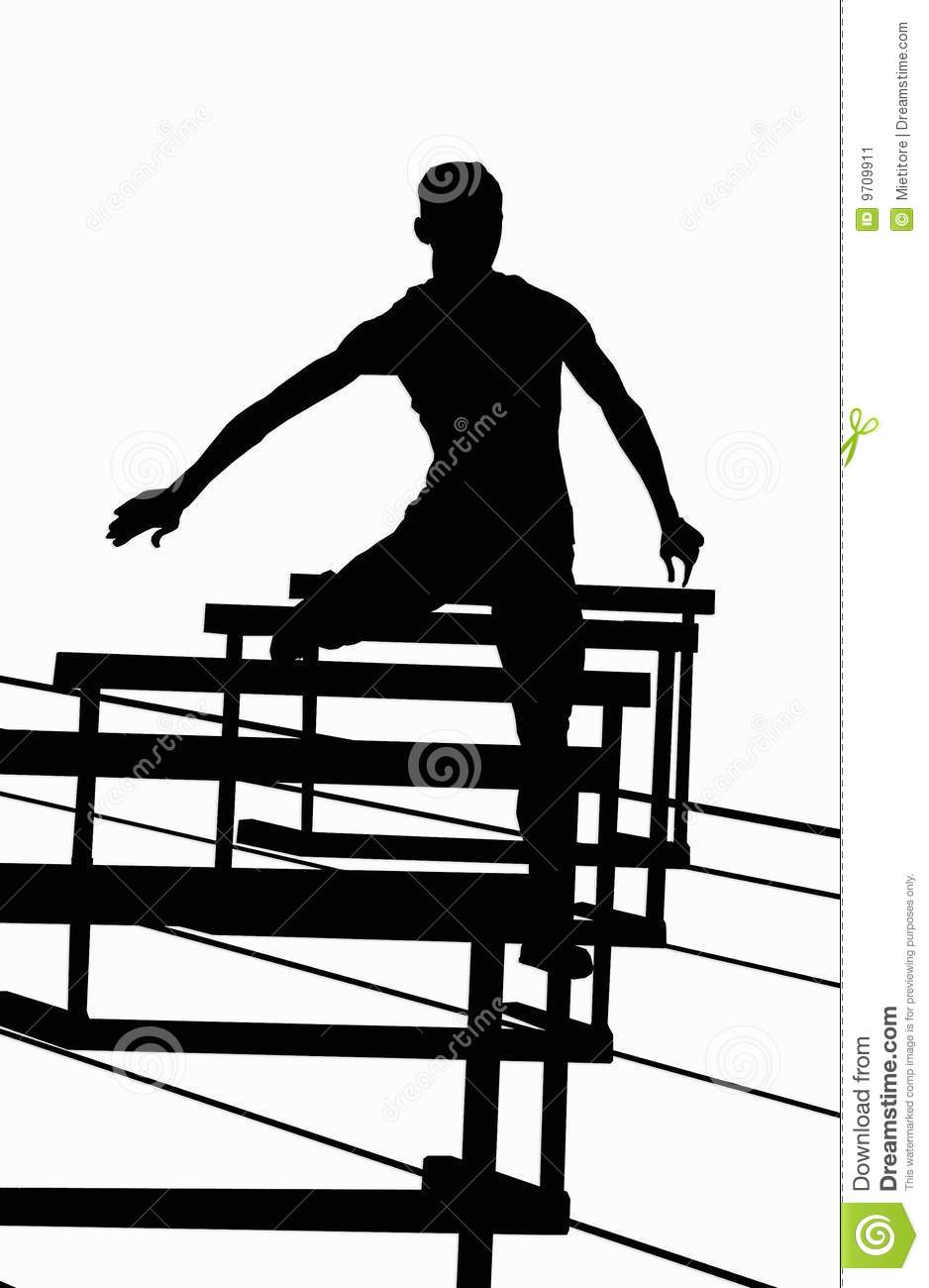 Hurdler Silhouettes 400 Track And Field Clipart Hurdles
