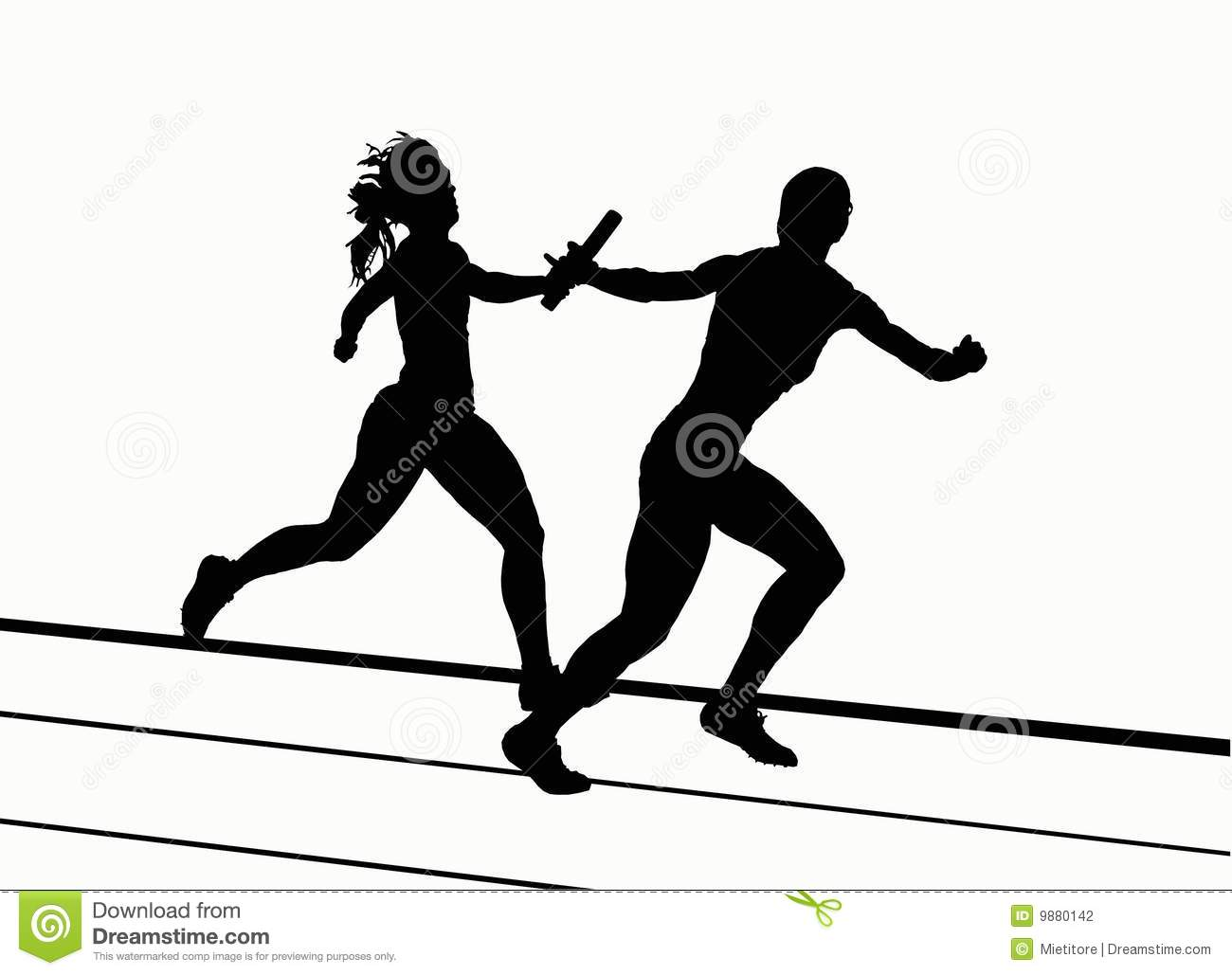track and field silhouettes