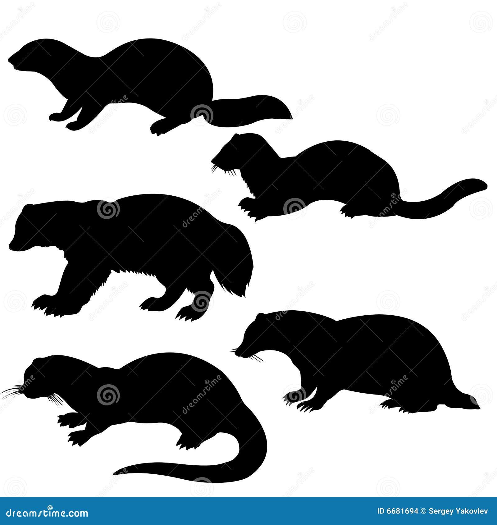 Silhouettes animal