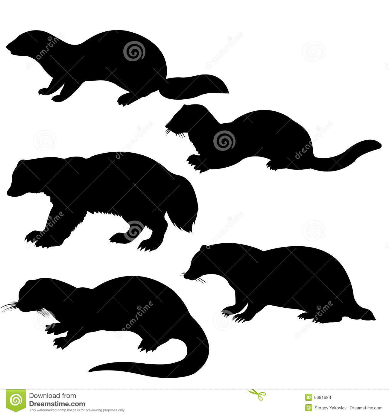 Silhouettes animales