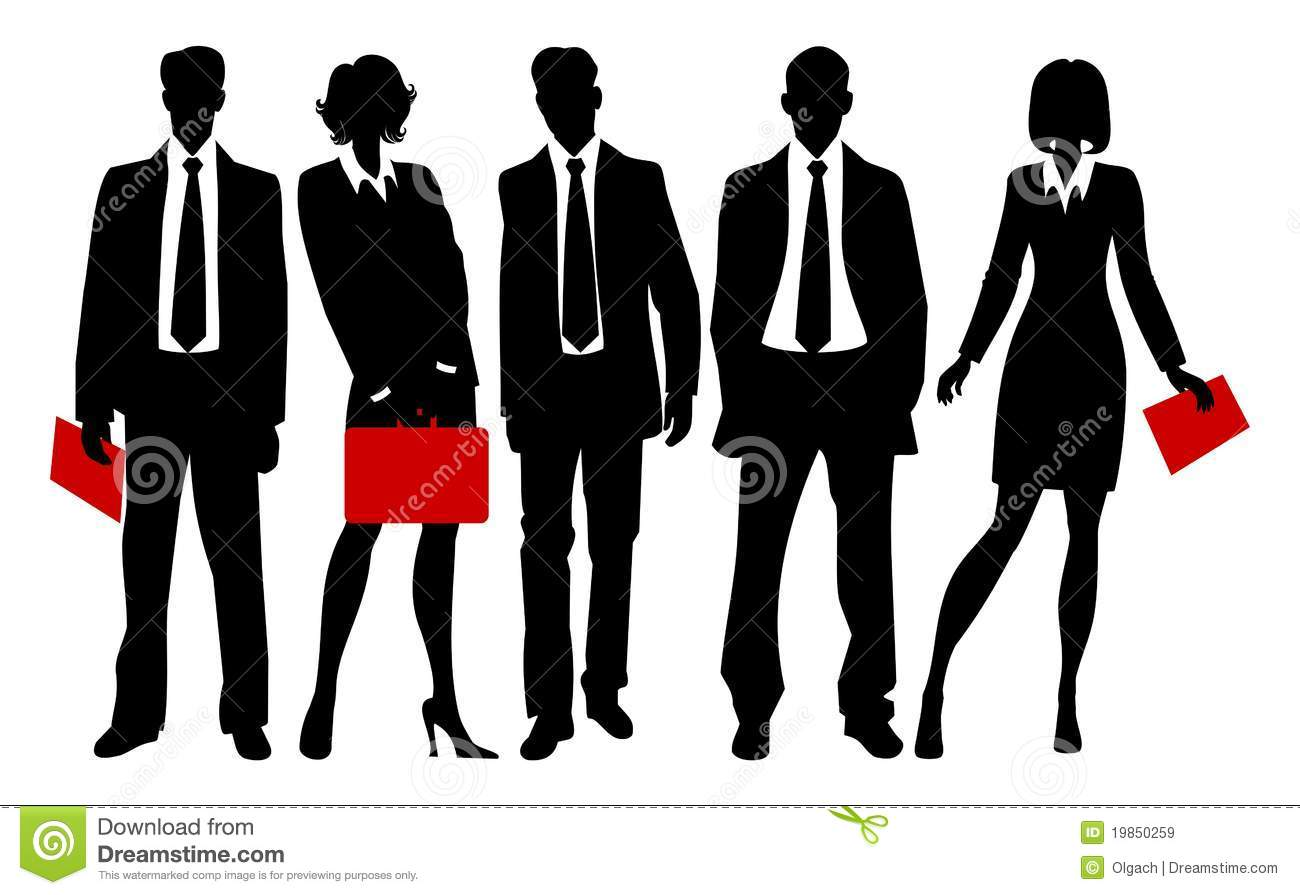 Silhouettes Of Business People Royalty Free Stock Images - Image ...