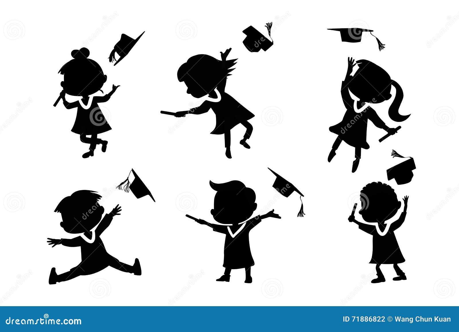 graduation girl silhouette jumping wwwpixsharkcom