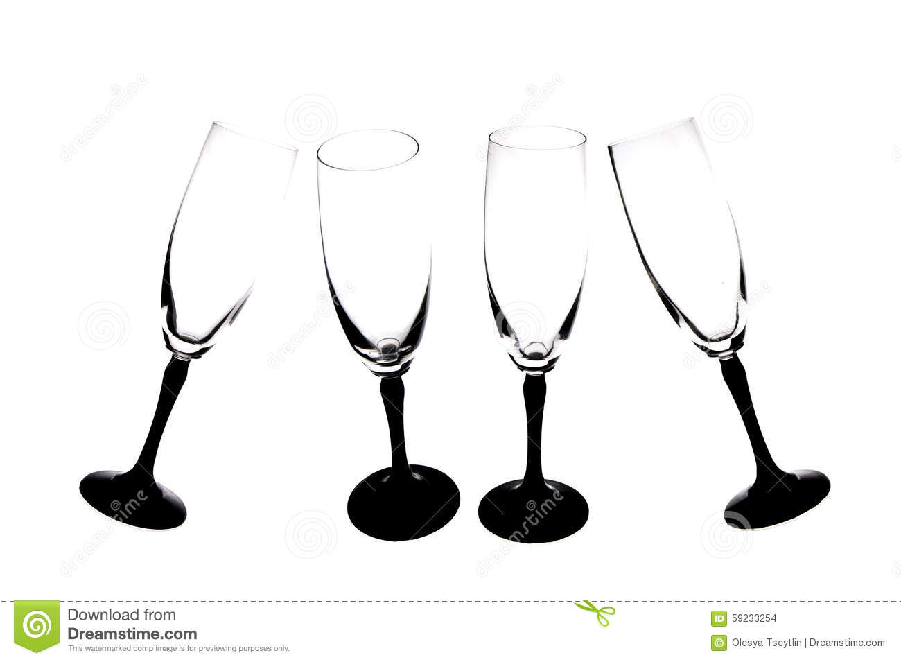 36bea85baf8 Silhouettes Of Champagne Glasses. Stock Photo - Image of tilt ...