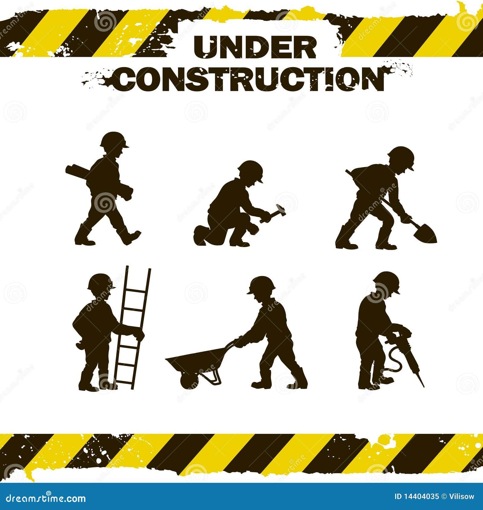 Silhouettes d ouvrier
