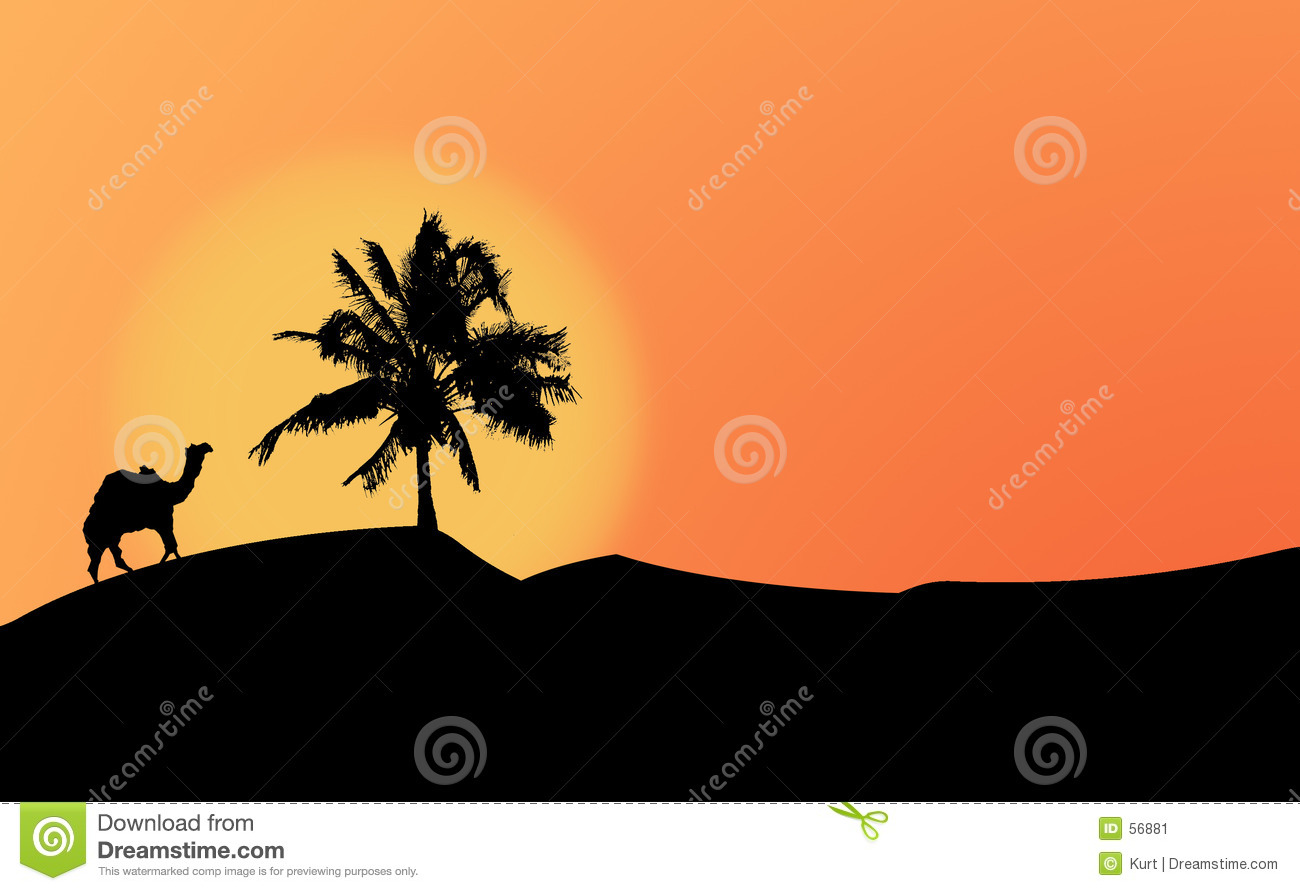 Download Silhouettes Dans Le Dessert Illustration Stock - Illustration du concept, silhouettes: 56881