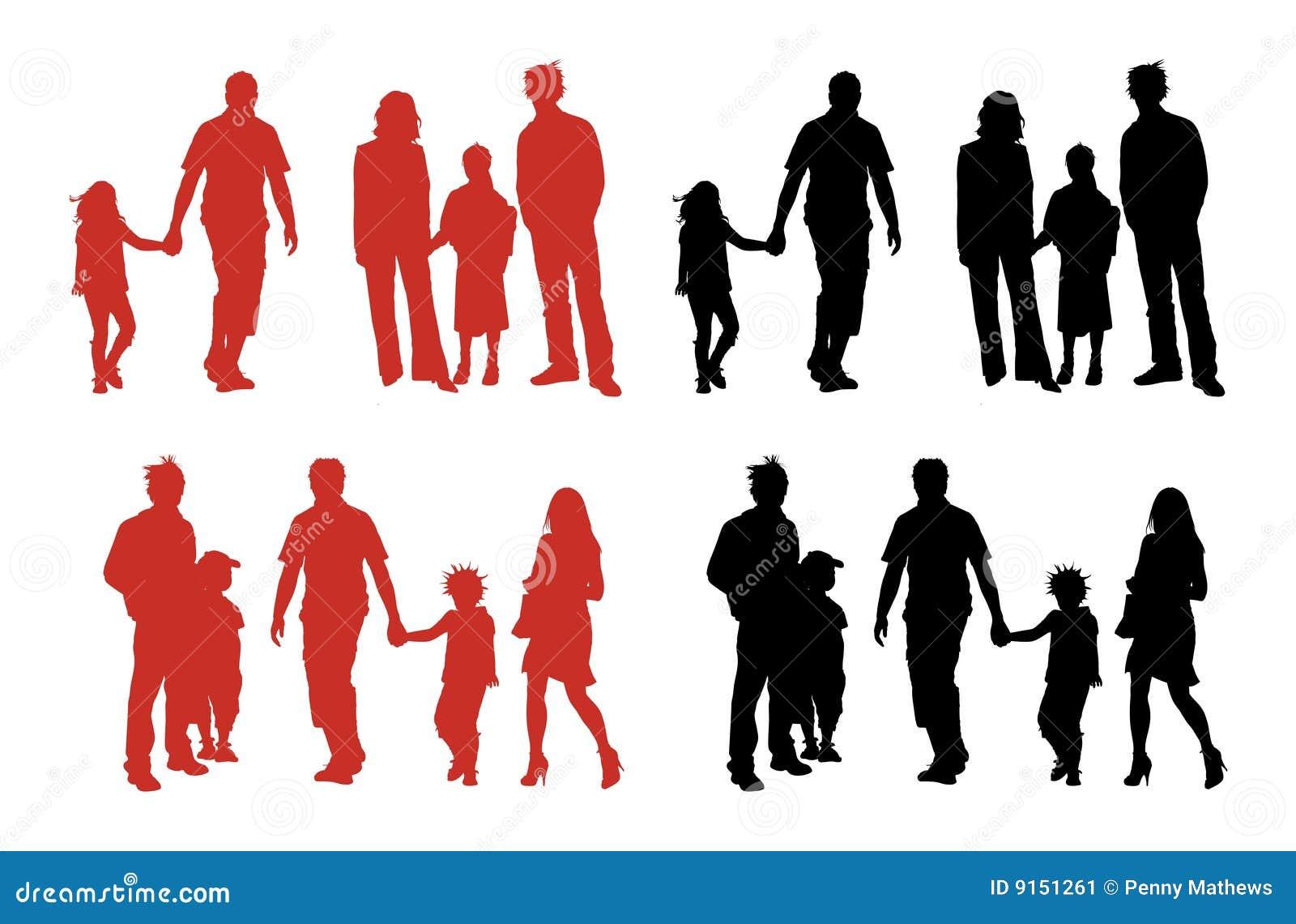 Silhouettes de famille