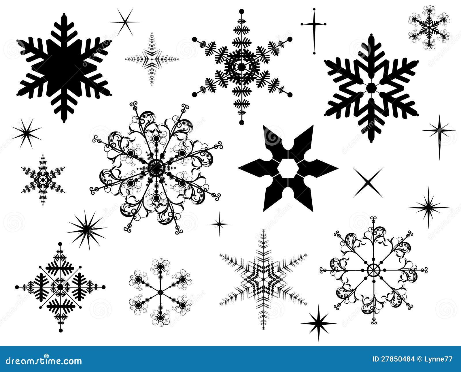 Silhouettes de flocon de neige illustration de vecteur illustration du dessin graphisme 27850484 - Dessin flocon de neige simple ...