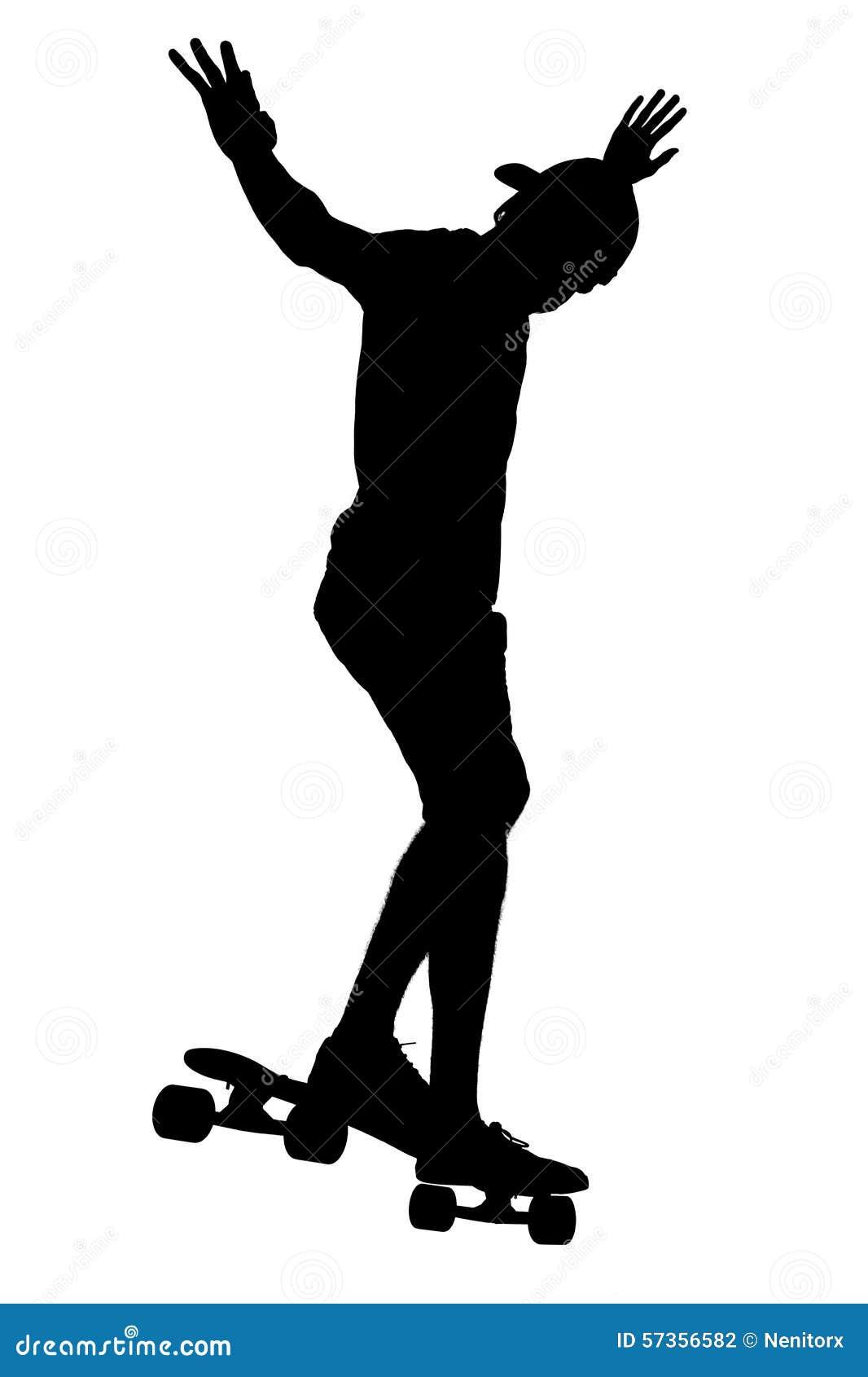 Silhouettes de garçon de patineur