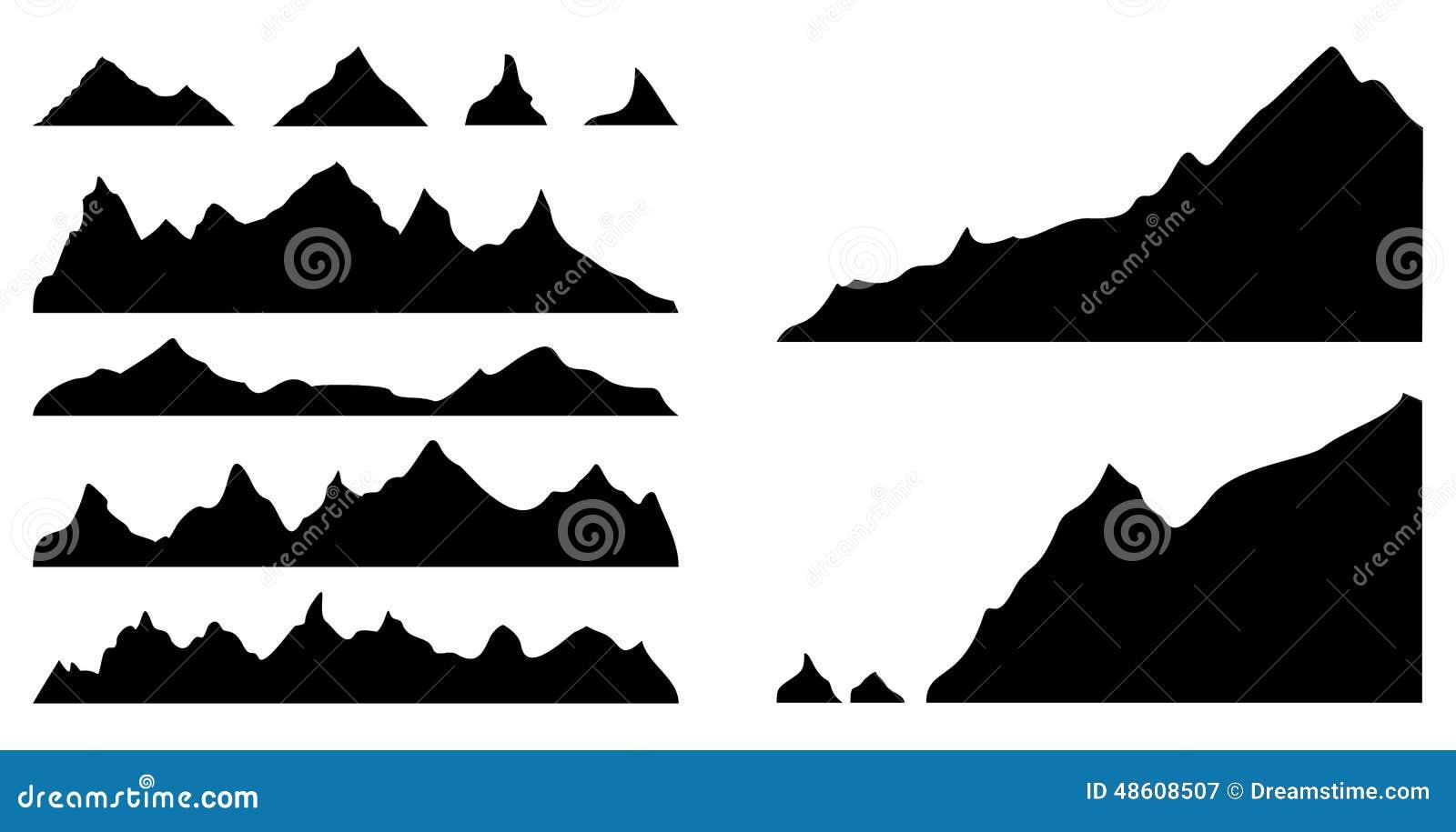 silhouettes de montagnes illustration de vecteur illustration du roche 48608507. Black Bedroom Furniture Sets. Home Design Ideas