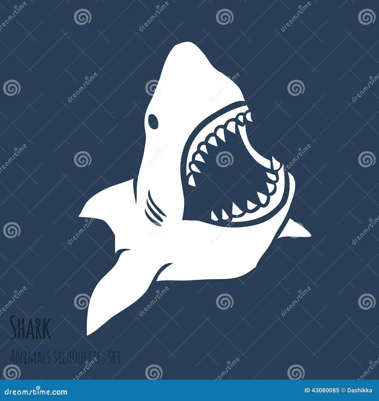 Silhouettes de requin de danger réglées