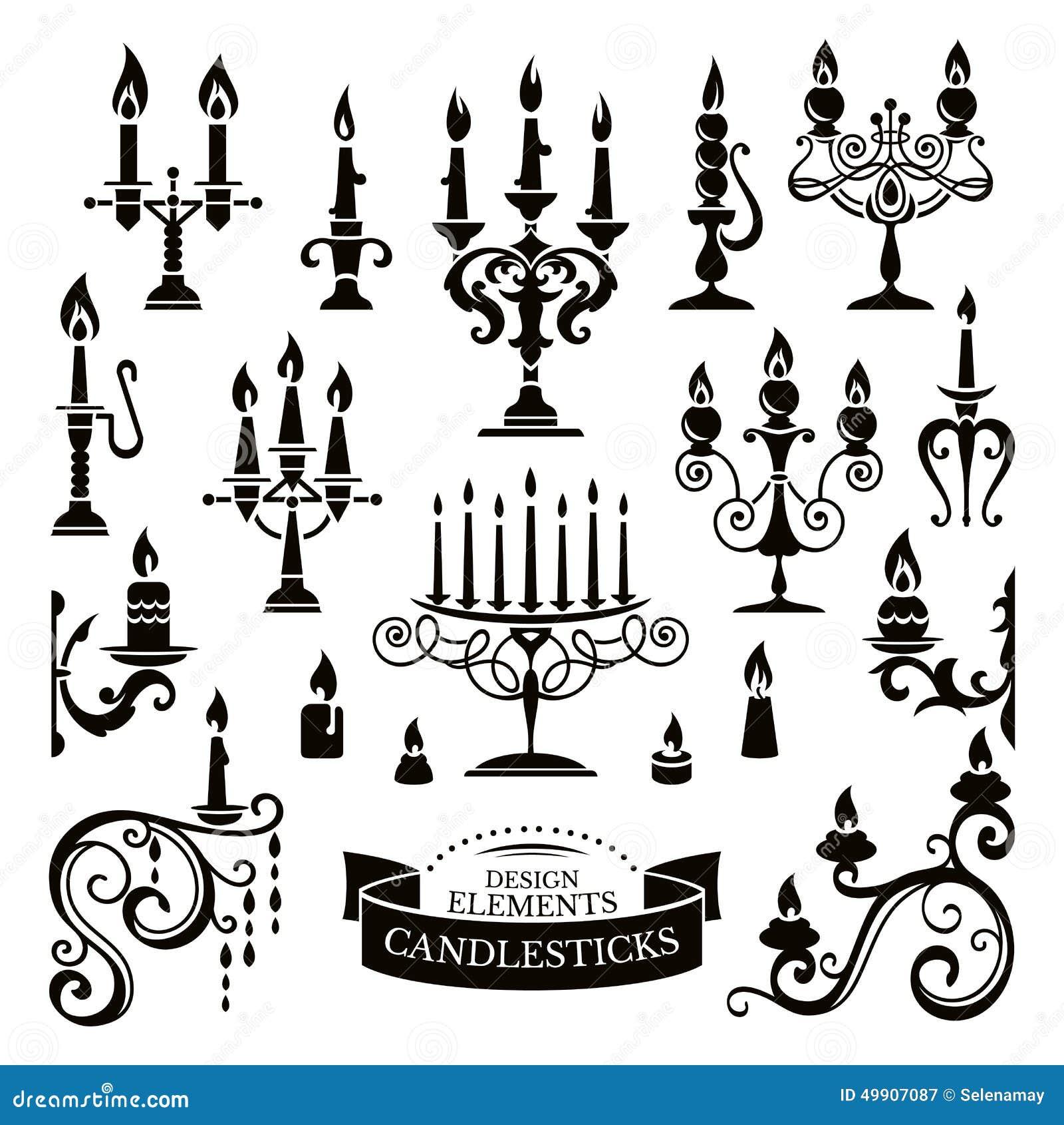 des chandeliers