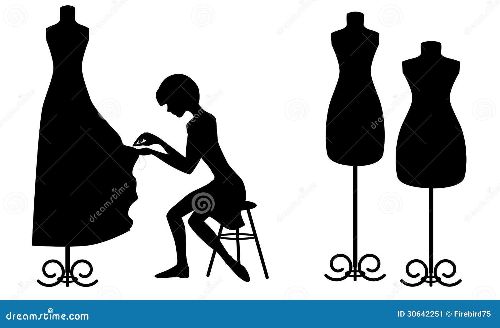 silhouettes designer and mannequins stock vector image. Black Bedroom Furniture Sets. Home Design Ideas