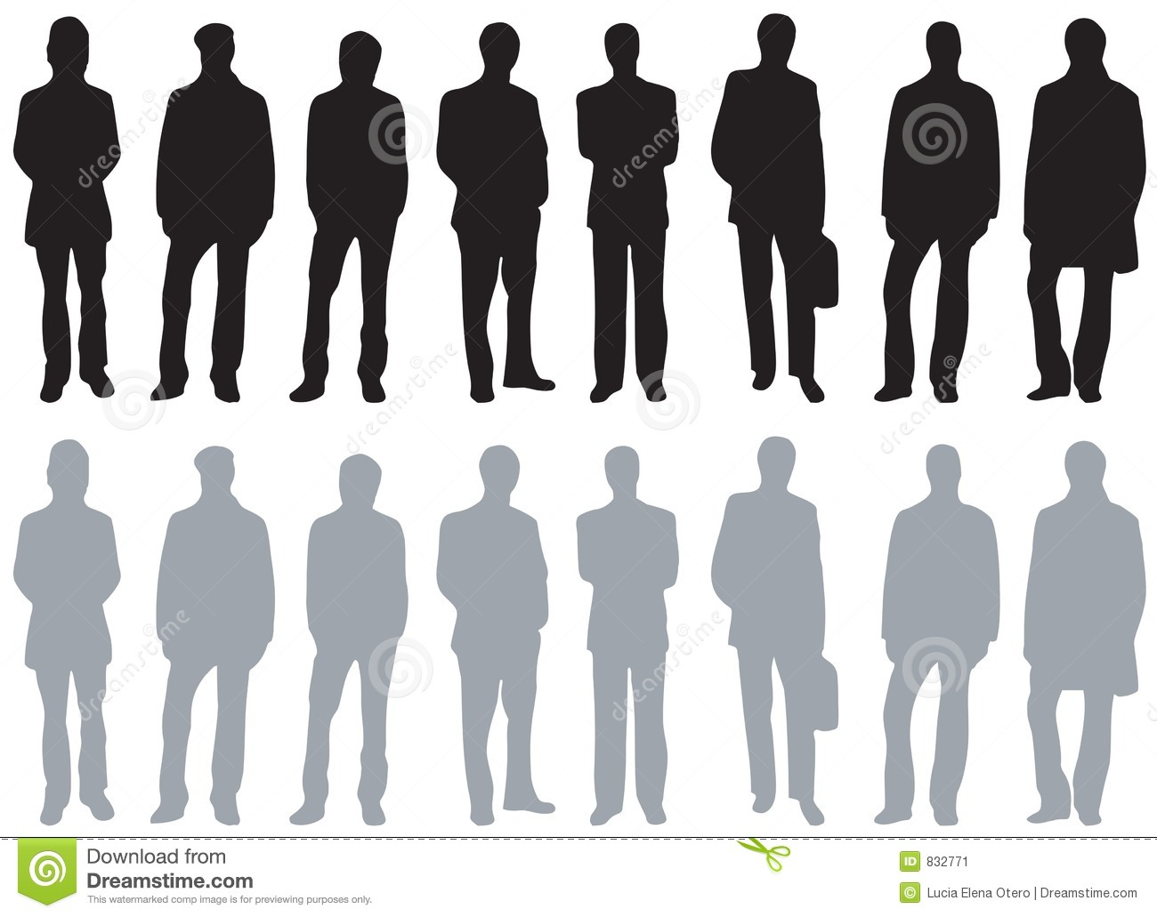 Silhouettes - Different kinds of men