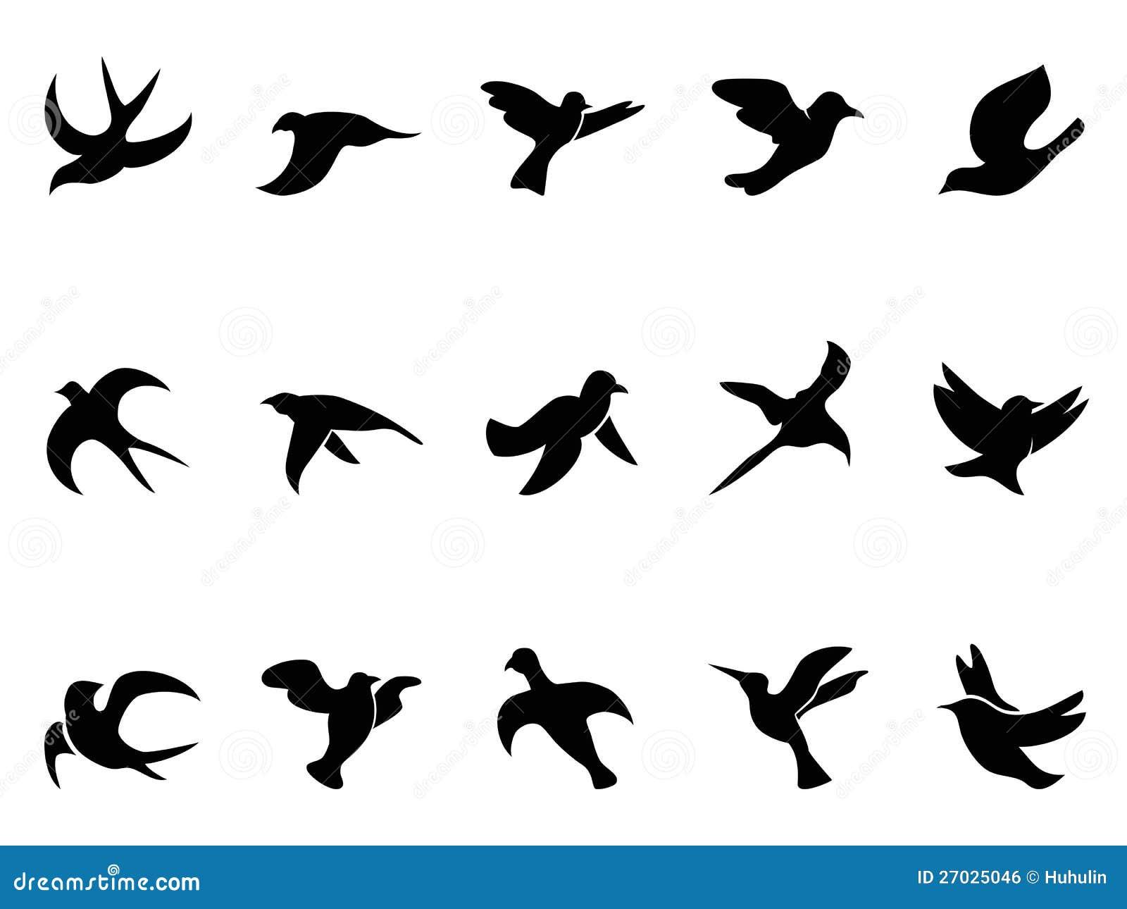 Silhouettes Du Vol De L Oiseau Simple Illustration De Vecteur