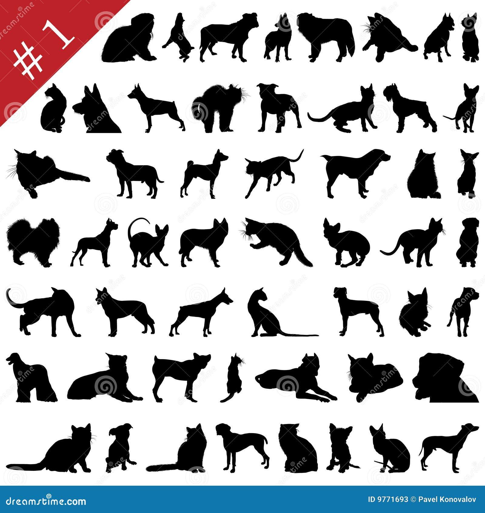 Silhouettes för 1 husdjur
