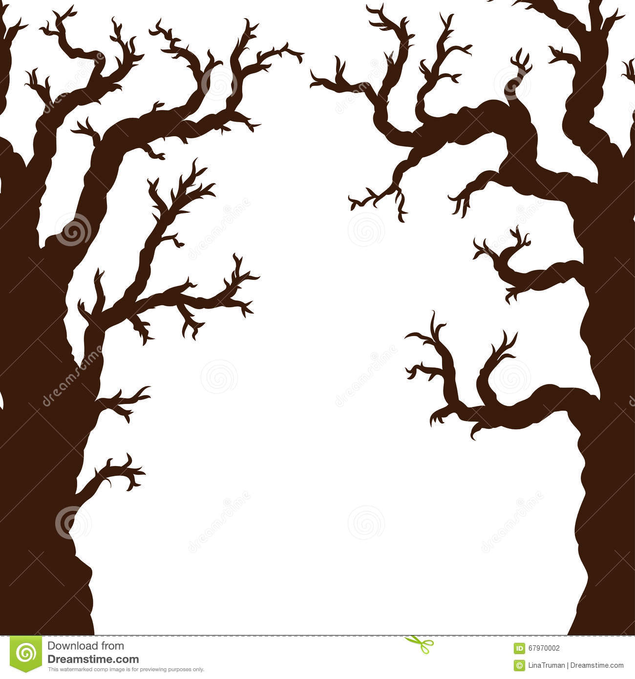silhouettes of halloween trees bare spooky scary halloween tree