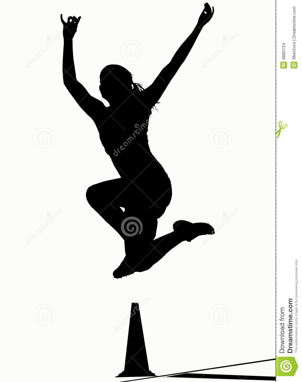 Silhouettes - Long Jump Stock Images - Image: 9880134