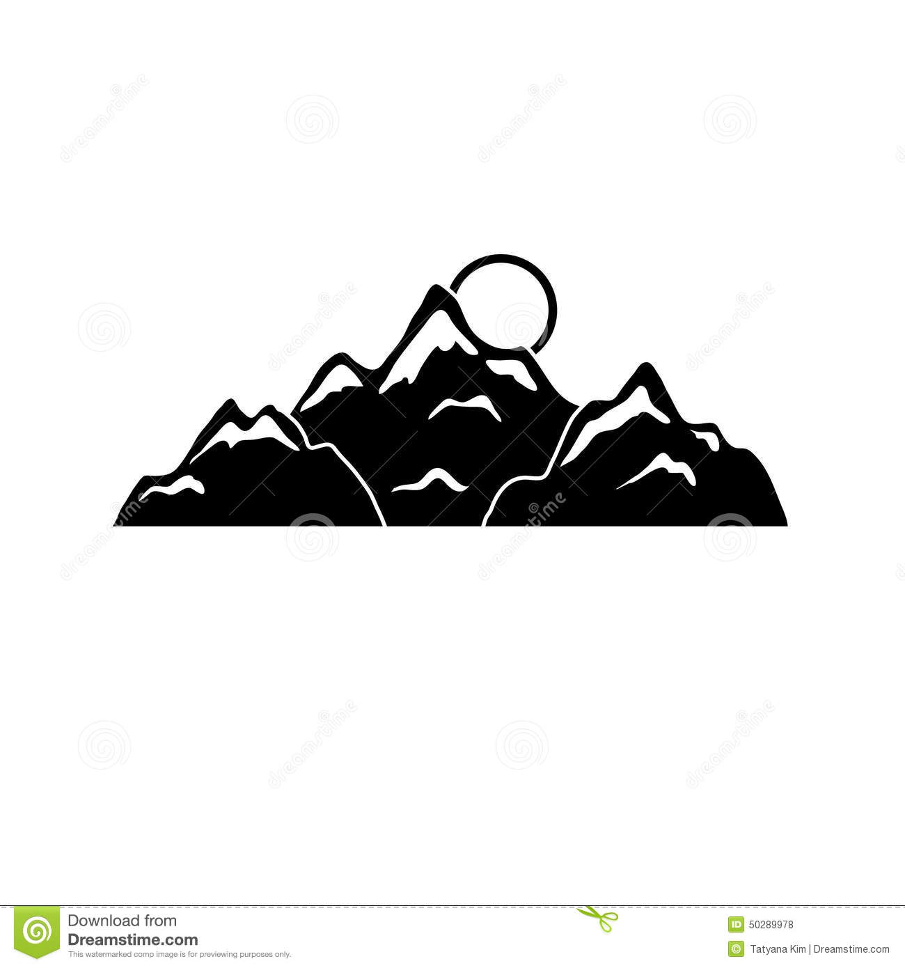 More similar stock images of ` Silhouettes of mountain for design `