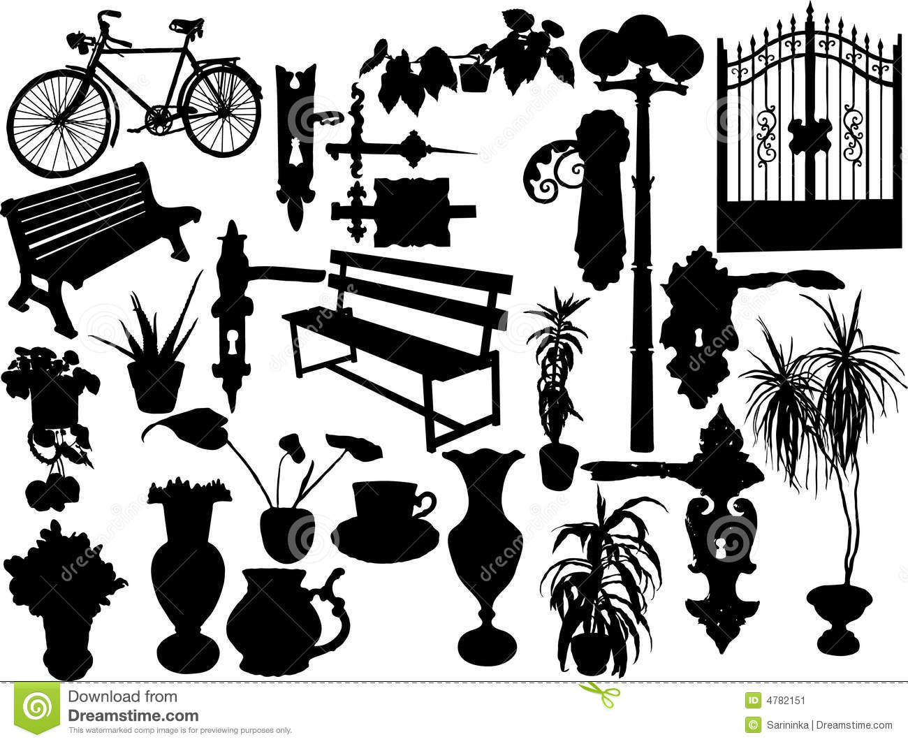 Silhouettes Of Objects Stock Image Image 4782151