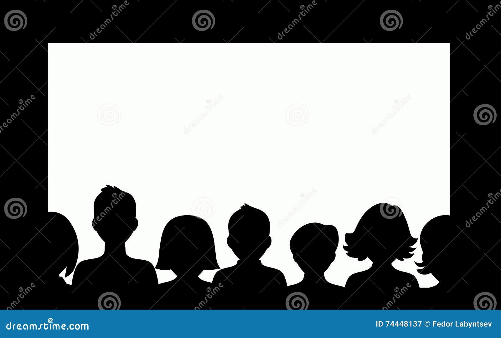 Movie Audience Silhouette | www.imgkid.com - The Image Kid ...