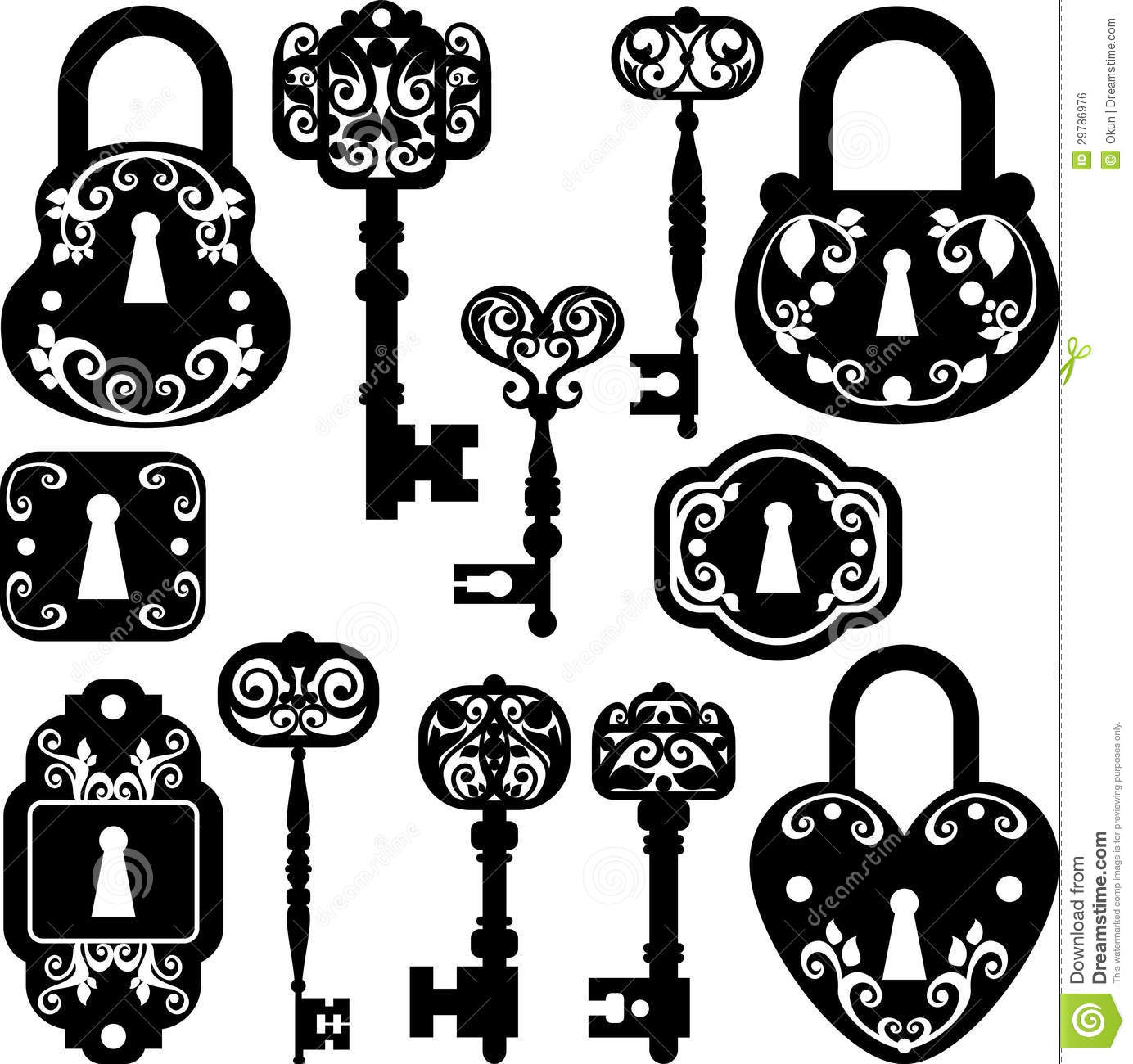 Old Keys And Locks Royalty Free Stock Image Image 29786976