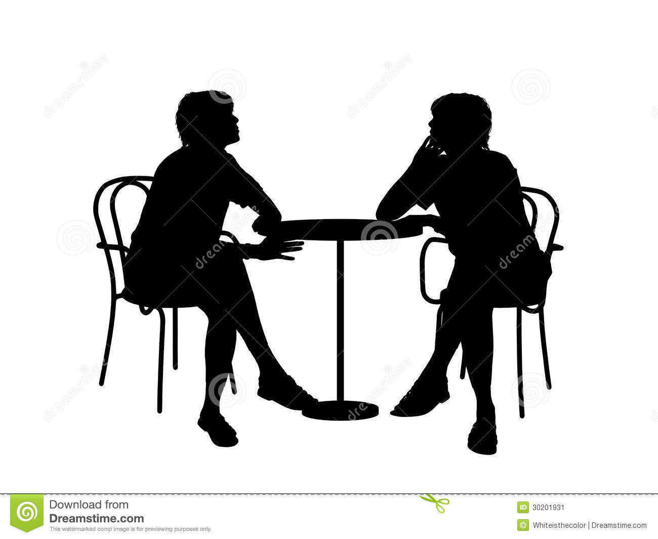 Two Women Sitting At The Table Stock Illustration Image  : silhouettes two young women sitting table cafe talking to each other 30201931 from www.dreamstime.com size 1300 x 1065 jpeg 69kB