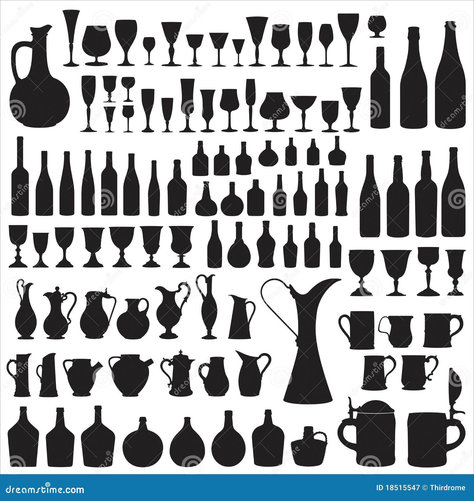 Silhouettes wineware