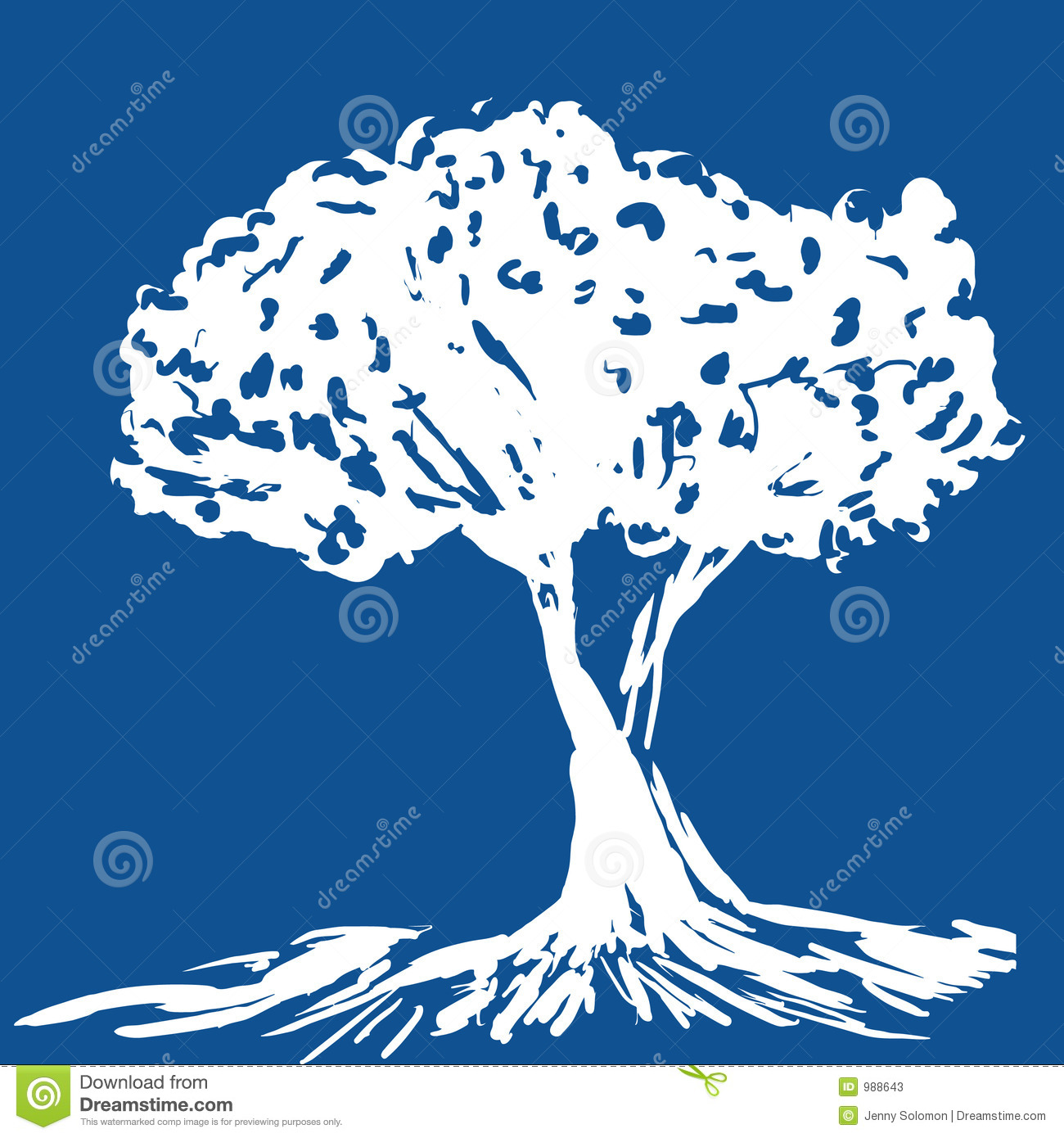 Download Silhouettetree vektor illustrationer. Illustration av snöig - 988643