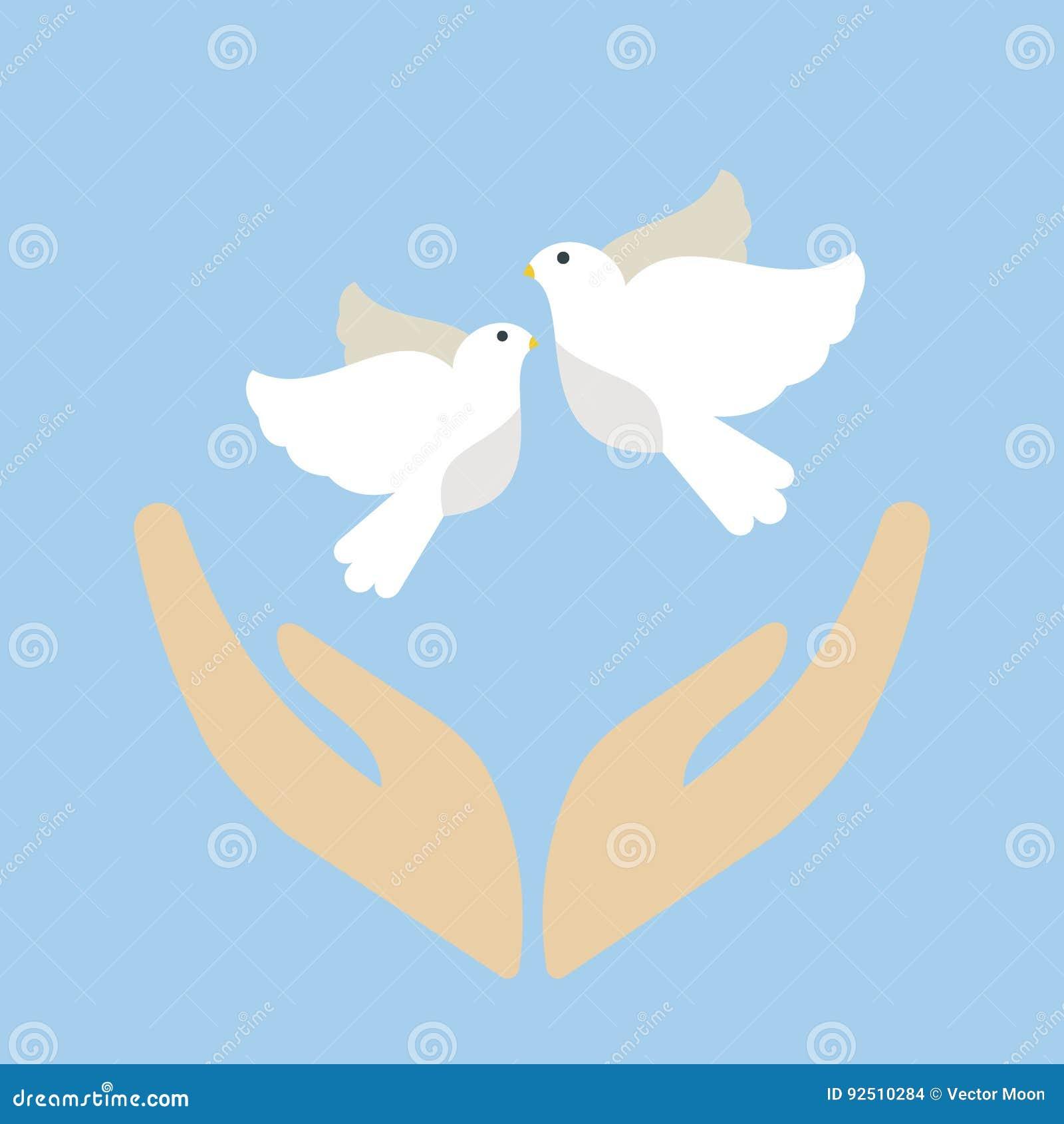 Silhueta Bonito Do Animal Do Voo Da Pena Do Simbolo De Paz Da