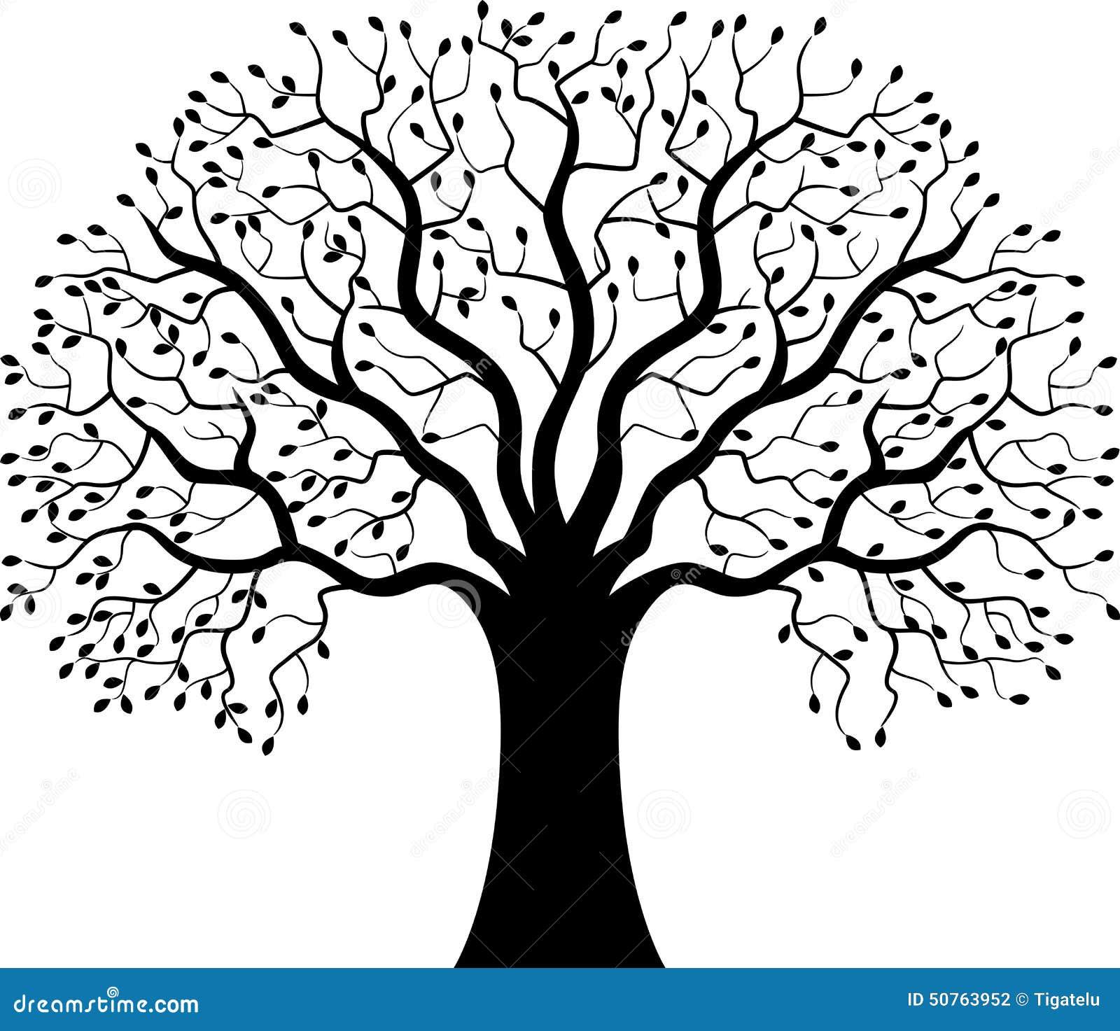 Desenho De Plantas Silhueta Da 225 Rvore Dos Desenhos Animados Ilustra 231 227 O Do