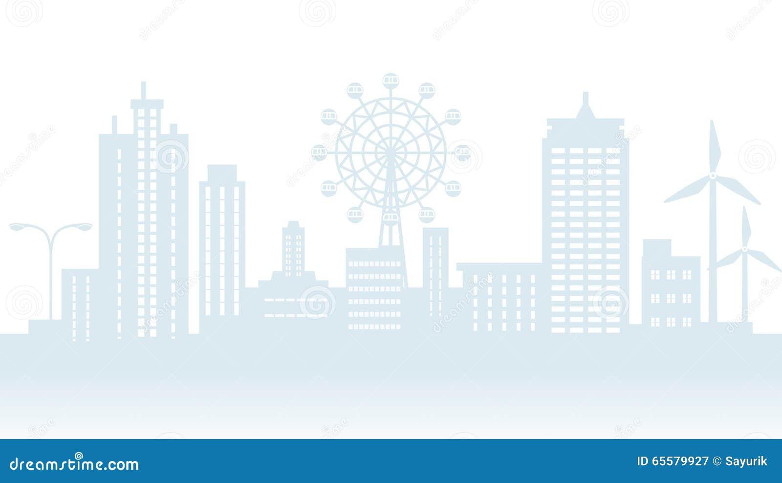 Silhueta da arquitetura da cidade