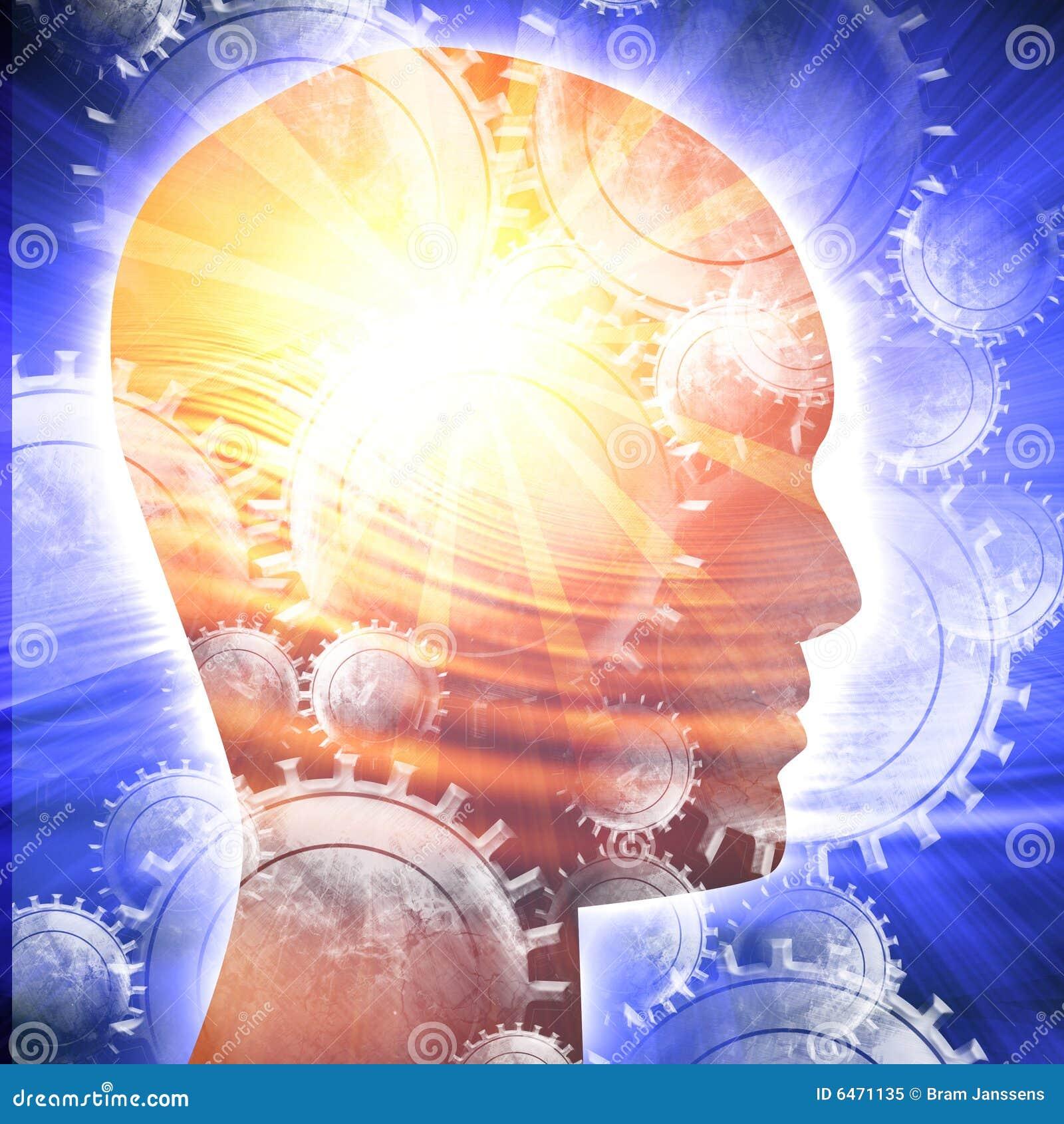 Silhueta da cabeça humana