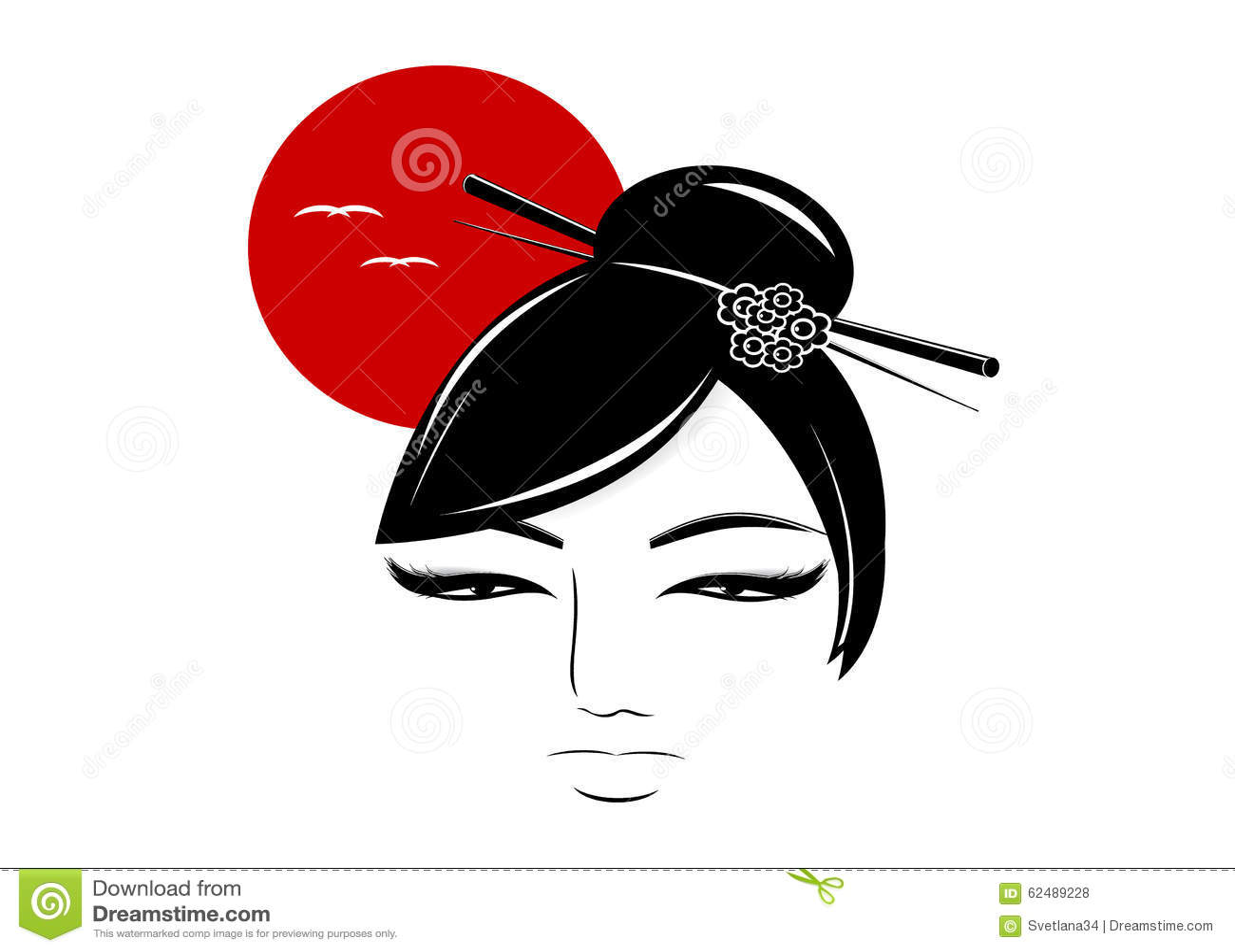 Silhueta da mulher asiática