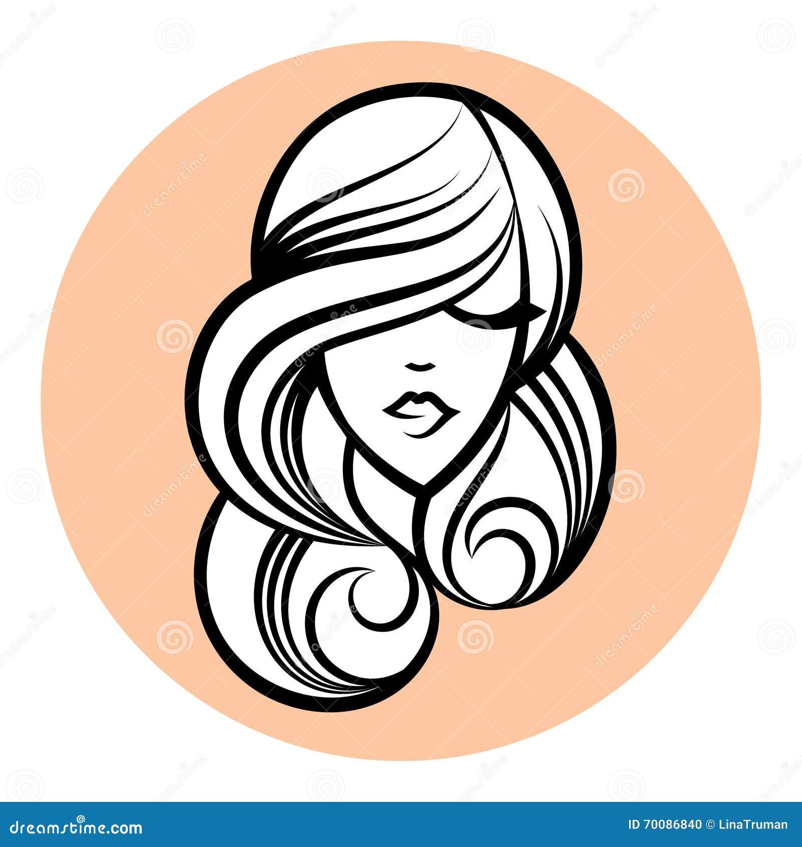Silhueta Da Mulher Desenho Da Cara Das Mulheres Conceito De