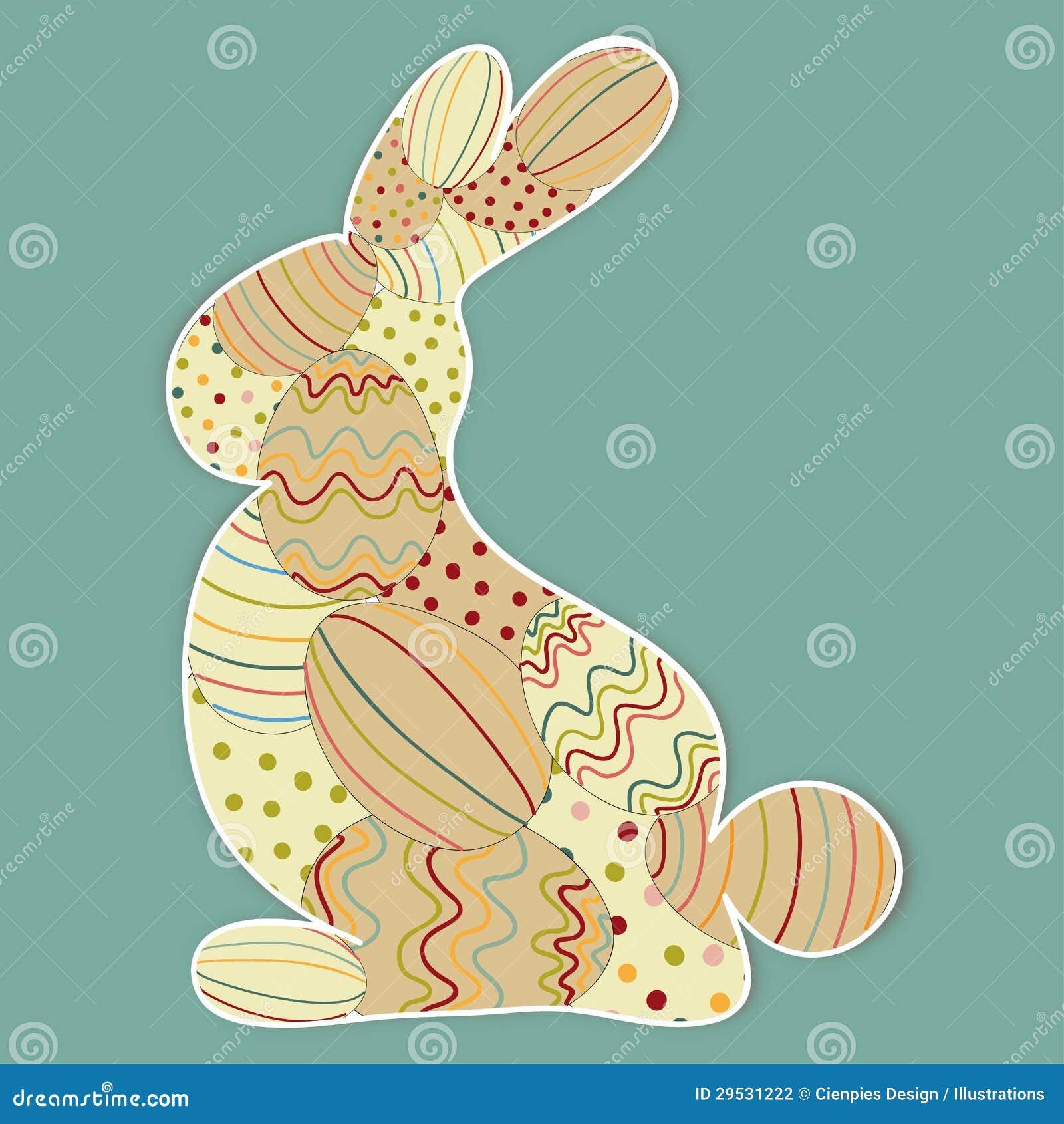 Silhueta decorada do coelhinho da Páscoa