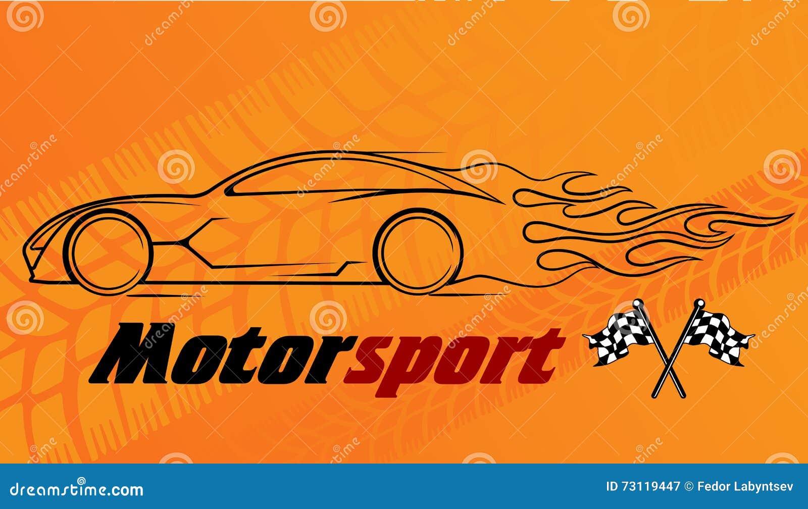 Silhueta dinâmica do carro, assuntos automotivos do logotipo