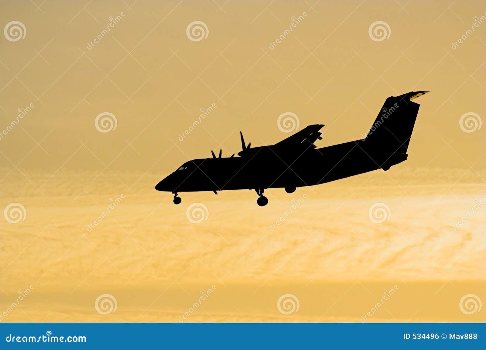 Silhueta do avião