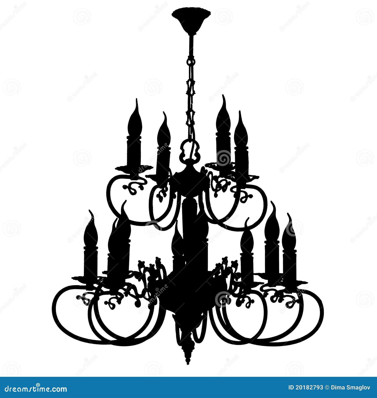 Silhueta do candelabro
