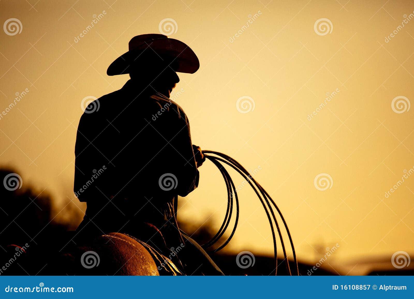 Silhueta do cowboy do rodeio