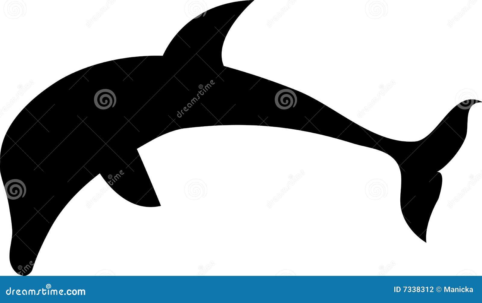silhueta do golfinho ilustração do vetor ilustração de aleta 7338312