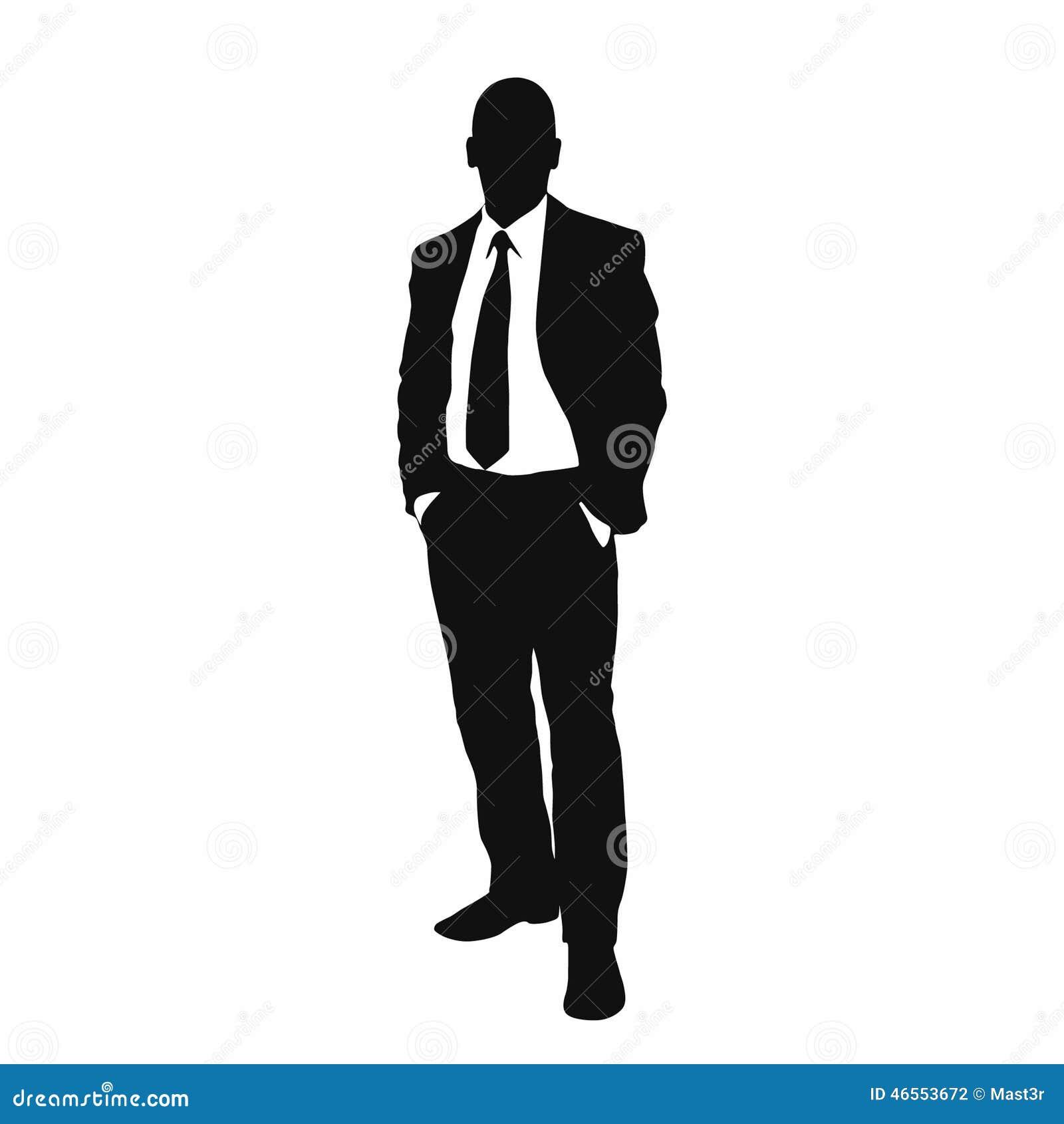 Silhueta do preto do homem de negócio do vetor