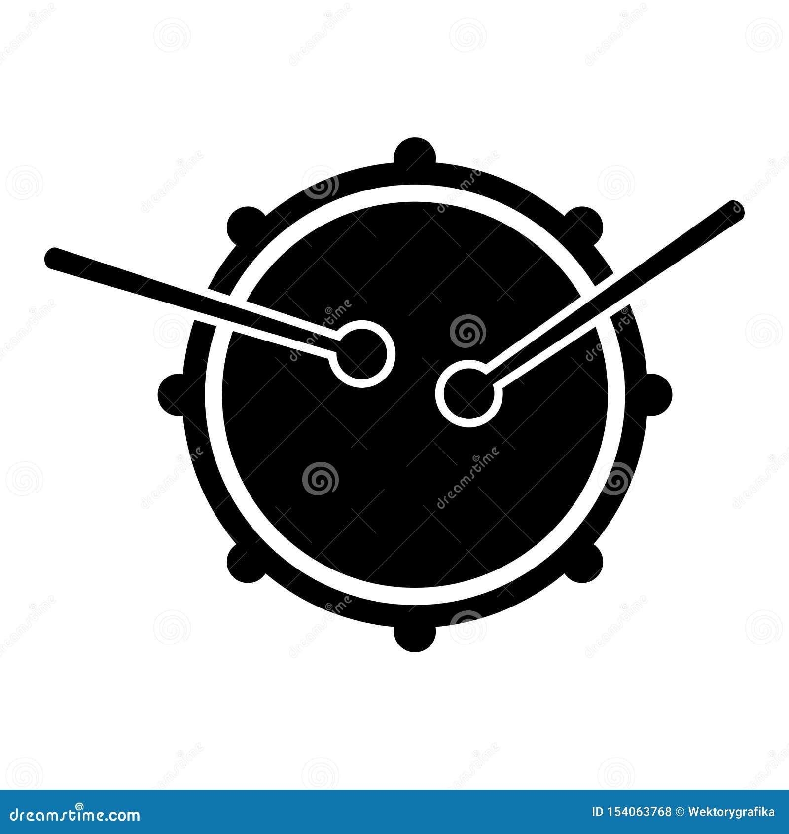 Silhueta do preto do projeto do símbolo do ícone do cilindro Vista da parte superior