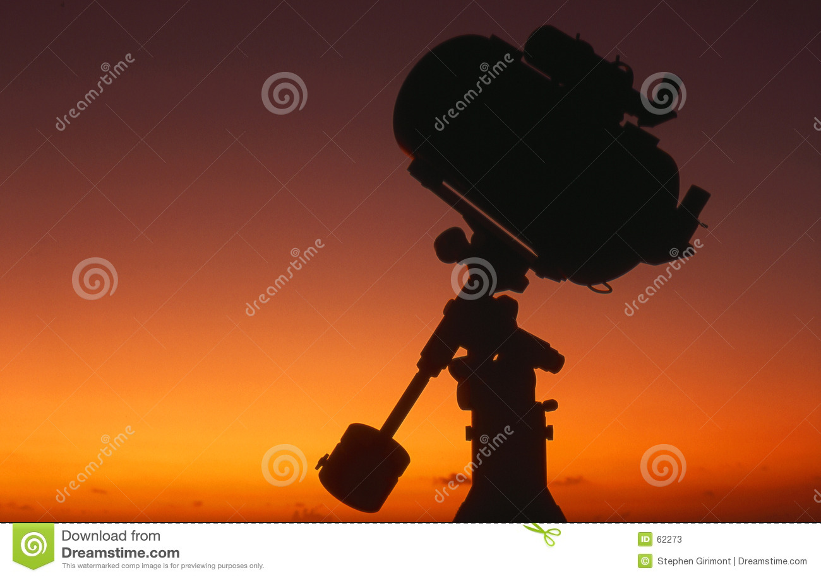 Silhueta do telescópio no nascer do sol #4