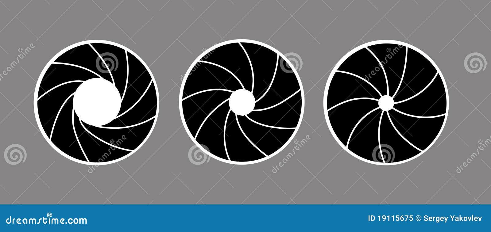 Silhueta Do Vetor Do Diafragma Ilustração Do Vetor Ilustração De