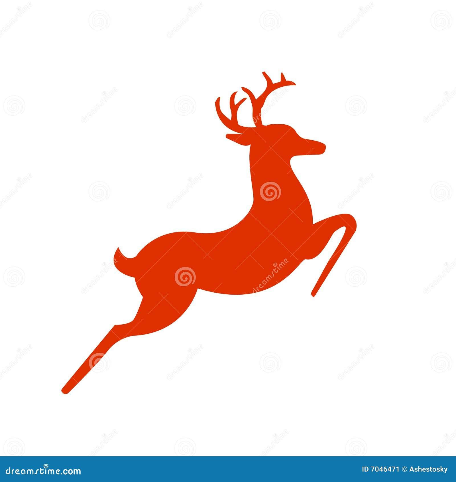 Silhueta dos cervos da rédea de Santa