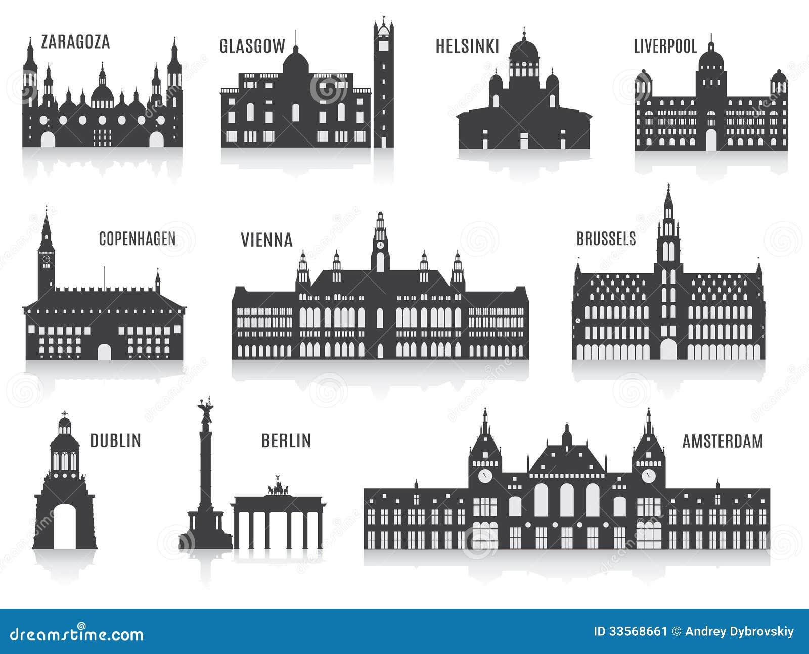 Silhuetas das cidades