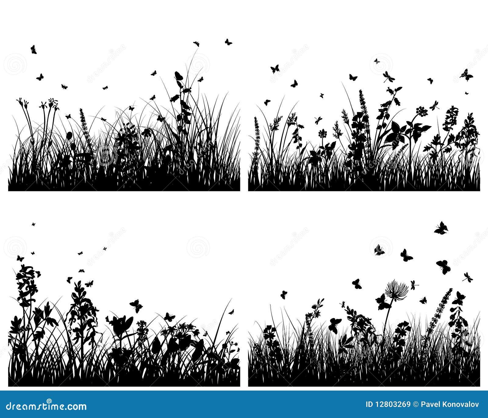Silhuetas do prado