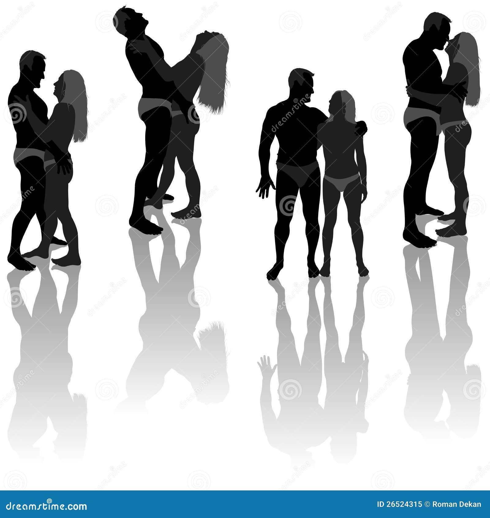 Silhuetas dos amantes