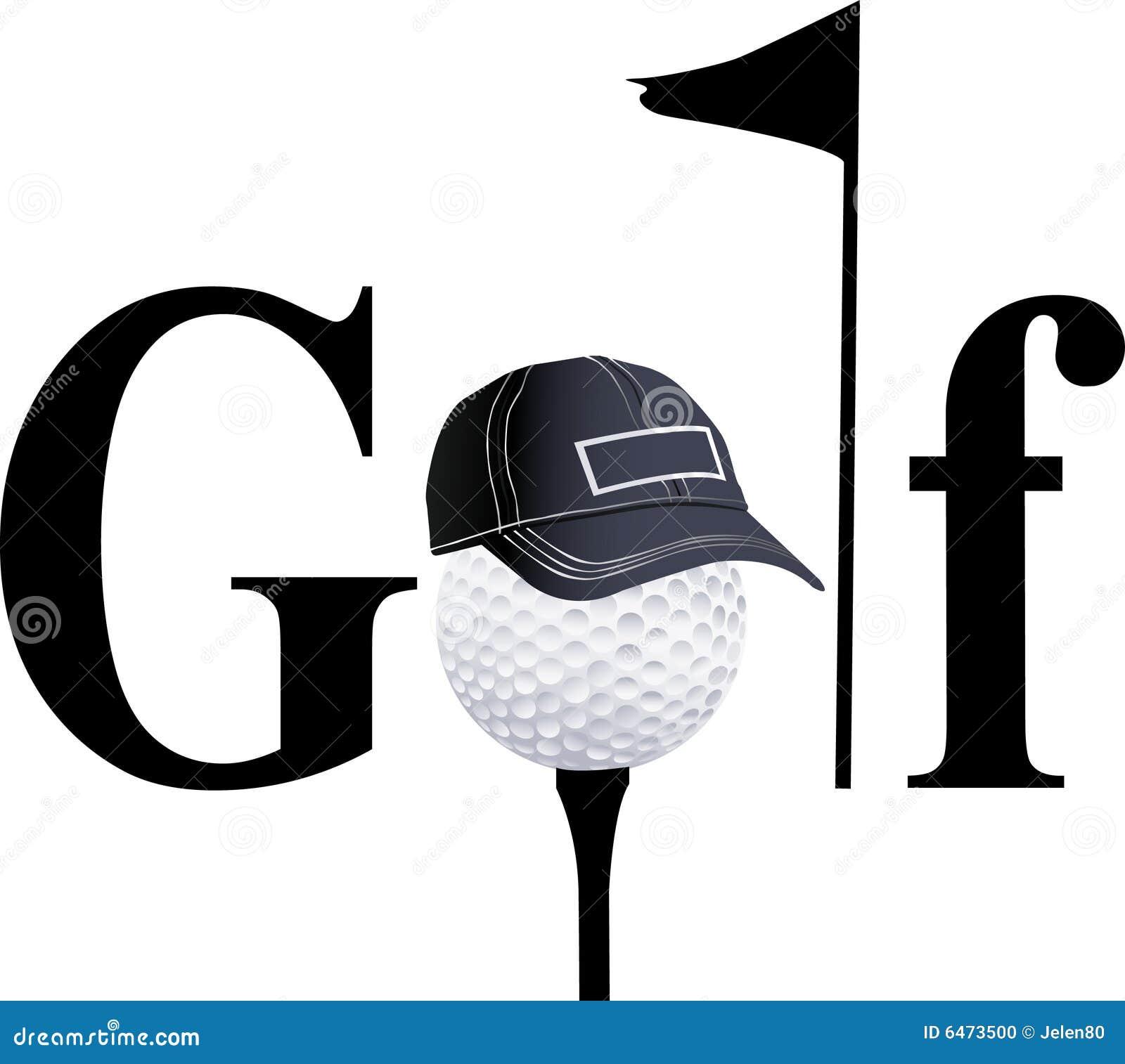 Silhuetas dos jogadores de golfe